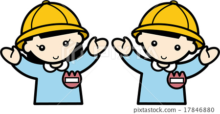 Kindergarten children expanding their hands 17846880
