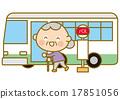 公共汽車站 祖母 公共汽車 17851056