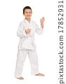 boy in white kimono posing 17852931