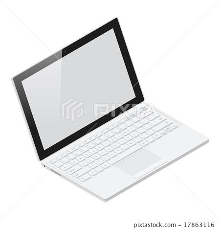 Laptop realistic isometric icon 17863116