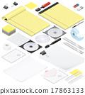 stationery, office, set 17863133