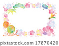 日本风格 矢量 图框 17870420