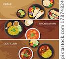 halal food web banner flat design , kebab 17874824