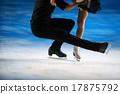 花式溜冰 聚光燈 冰 17875792