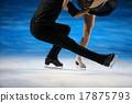 花式溜冰 聚光燈 冰 17875793