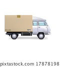 van delivery isolated 17878198