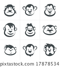 Monkey head icon vector 17878534