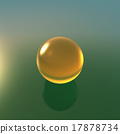 glass yellow ball with green background 17878734