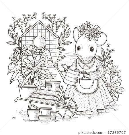 การวาดภาพ ภาพวาด ดอกไม้ ภาพประกอบสต็อก 17886797 Pixta