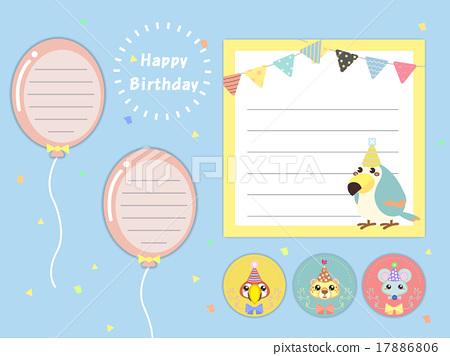 17886806 happy birthday memo pad template