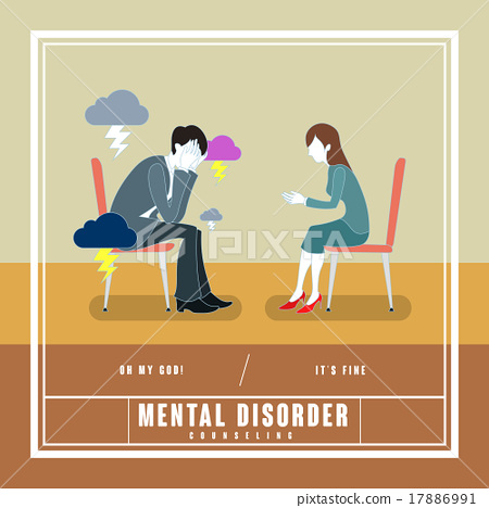 counseling, psychiatrist, vector 17886991