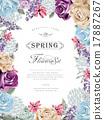 꽃, 패턴, 현대 17887267