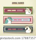動物 橫幅 模板 17887357
