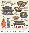 韩国 矢量图 矢量 17887369