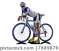 woman triathlon athlete cyclist cycling 17889876