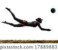 woman beach volley ball player silhouette 17889883