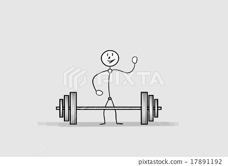 man with dumbbell 17891192