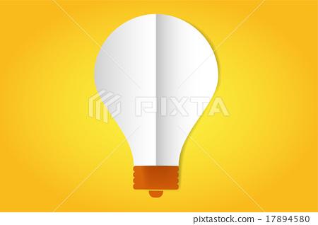 Bulb lamp flat style icon isolated 17894580