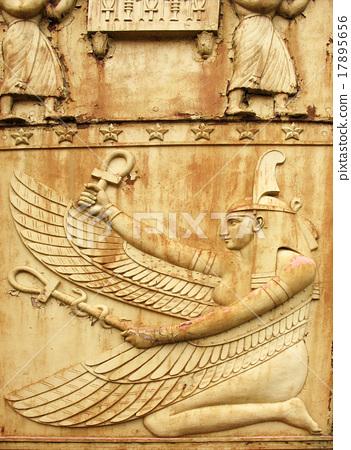 Goddess Maat. Fragment of Egyptian gate in Pushkin 17895656