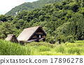 shirakawa-go, shirakawago, having a steep thatched rafter roof 17896278