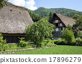 shirakawa-go, shirakawago, house with a steep rafter roof 17896279
