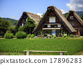 shirakawa-go, shirakawago, having a steep thatched rafter roof 17896283