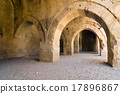 multiple arches and columns in the caravansary 17896867