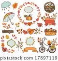 Autumn leaves ,branches.Plant harvest decorations 17897119