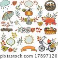 Autumn leaves ,branches.Plant decorations,harvest 17897120