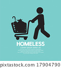 Homeless With Possessions Cart Symbol. 17904790