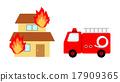 firetruck, fire-engine, fire 17909365