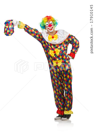 Funny clown isolated on white 17910145