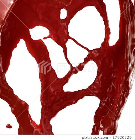 Ketchup, Blood, Red liquid Splashing. 17920229