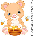 Bear Holds Honey Jar 17921365