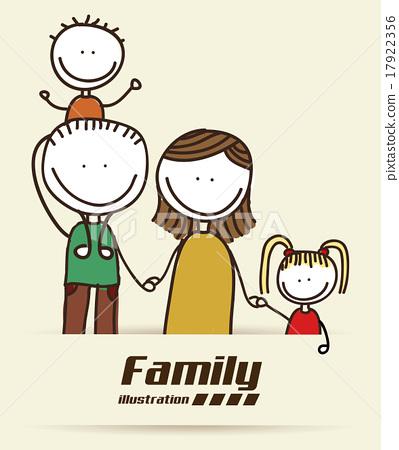 family design over white background vector illustration 17922356