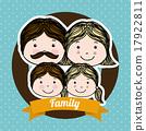 family design over blue background vector illustration 17922811