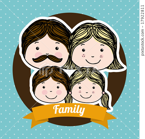 family design over blue background vector illustration 17922811