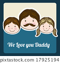 family design over blue background vector illustration 17925194