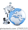 robot, earth, clipping 17935215