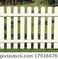 White fence taken closeup. 17936676