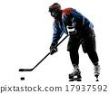 Ice hockey man player silhouette 17937592