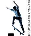 man skateboarder skateboarding silhouette 17937668