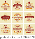 vector, thanksgiving, design 17942078