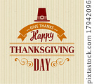 vector, thanksgiving, typographic 17942096