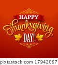 vector, thanksgiving, typographic 17942097