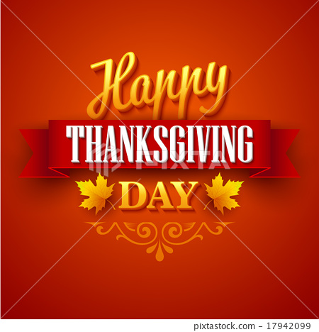 Typographic Thanksgiving Design. Vector 17942099