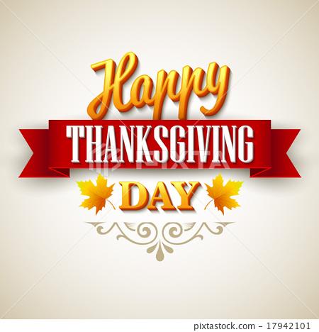 Typographic Thanksgiving Design. Vector 17942101