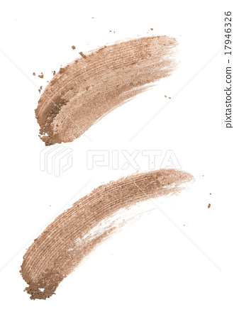 Stock Photo: Brow color eye shadow stroke on background
