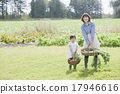parenthood, parent and child, kitchen garden 17946616