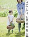 父母身份 父母和小孩 菜园 17946617